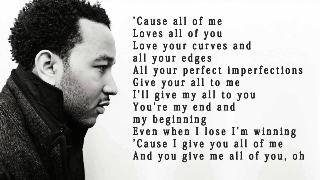Lirik Lagu John Legend - All of Me